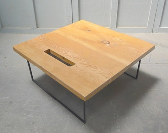 coffee table reclaimed wood and metal