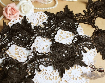 2 yards black venice lace trim , corchet trim lace