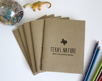 5 Pack - Texas Nature - Mini Coloring Book