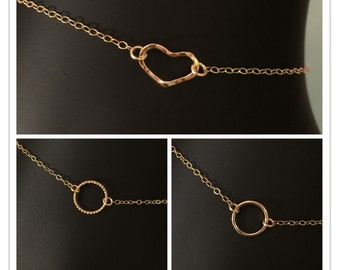 14k Heart Anklet, 14k Anklet, 14k charm anklet, 14k Heart Bracelet, 14k charm bracelet, 14k yellow gold heart bracelet, Charm Anklet