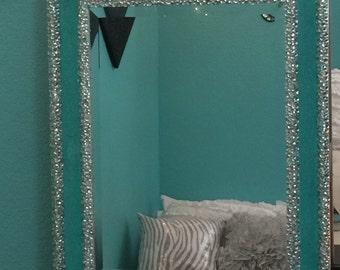 Bling Rhinestoned Glitter Custom Wall Mirror