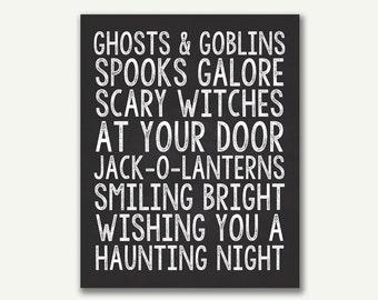 Halloween Print - Instant Download - 8x10 - 16x20