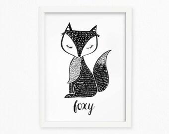foxy printable wall art