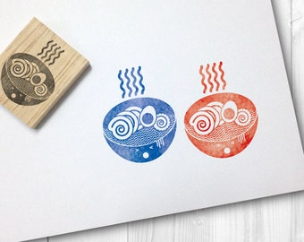 ramen rubber stamp - FREE SHIPPING WORLDWIDE*