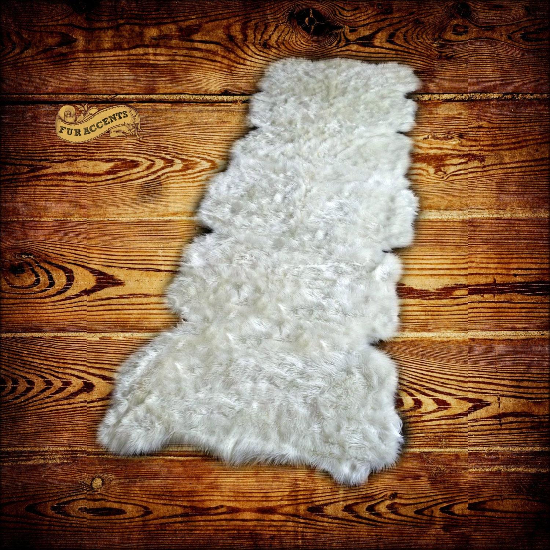 Shag Carpet Runner Plush Faux Fur Area Rug / By FurAccents