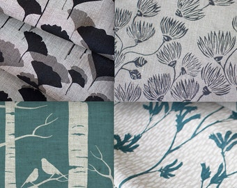 Pick Four - Ink & Spindle Hand Screen Printed Fabric.