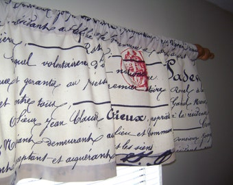 French Script Valance, Window Valance