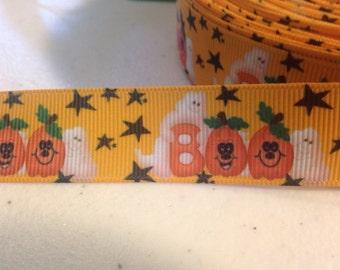 Boo  Halloween Grosgrain Ribbon 1 yard