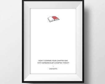 SUPER SALE** Chapter - Quote Poster A4  - Quality Art Print