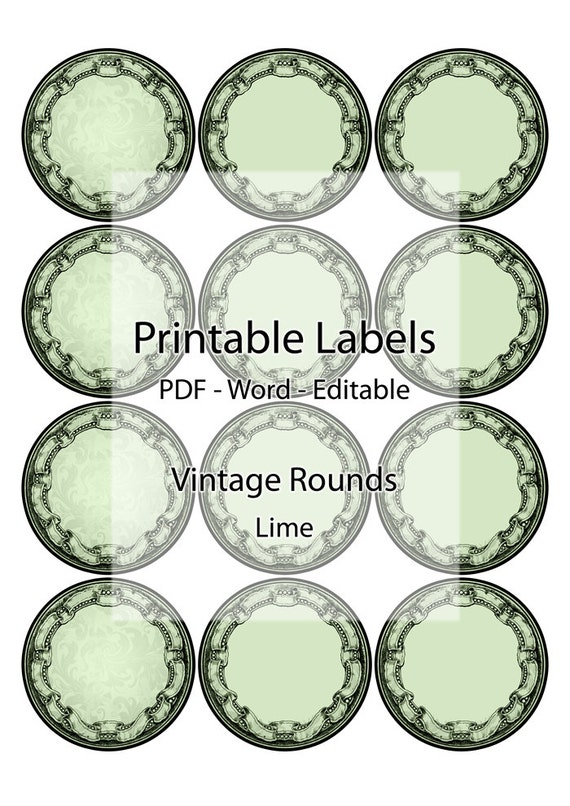 Breathtaking image in circle printable labels