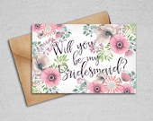 Will You be My Bridesmaid, Maid of Honor, Matron of Honor - Set of 3 - INSTANT DOWNLOAD - 4x6 Printable Files