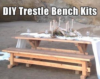 Farmhouse Trestle Bench DIY Kits