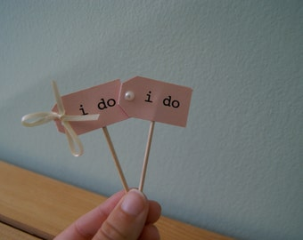 fancy, chic i do. cupcake toppers.