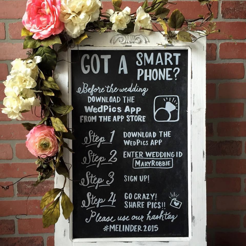 Wedpics Sign Chalkboard Sign Wedpics App Chalkboard Easel
