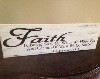 Faith, inspirational sign