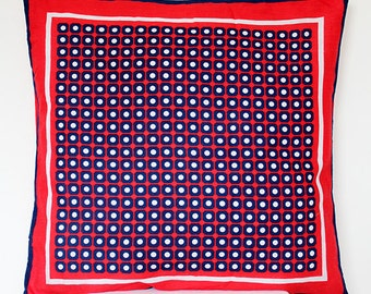 Pillow cover from vintage scarf with dots