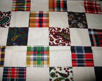 Patchwork Fabric Preppy Fabric Cheater Quilt Patch Fabric