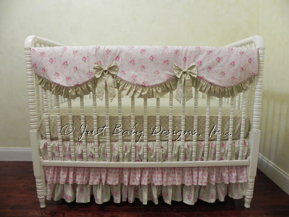 Shabby Chic Baby Bedding Set Annalise Girl Baby Bedding
