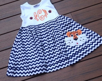 Auburn Tiger Chevron Dress, perfect for gameday-