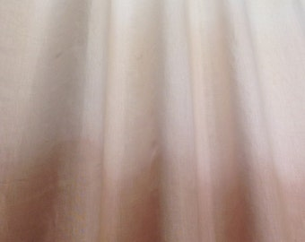 TAN BRONZE OMBRE Dye 100% Linen Natural fiber Curtain Panel/Window Drape
