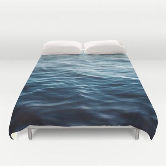 housse de couette deep ocean bleu des eaux c ti res par. Black Bedroom Furniture Sets. Home Design Ideas