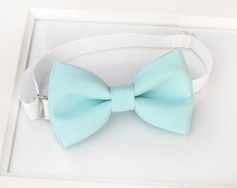 Aqua blue bow-tie for baby toddler teens adult