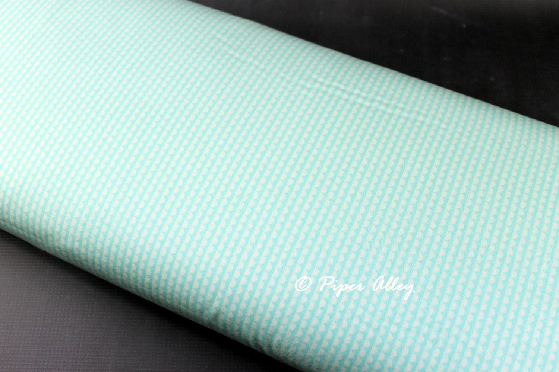 Flannel Fabric MODA Miss Kate Scallop Print Fabric in Aqua