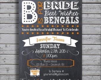 Bengals Bridal Shower Invitation -Digital File Only