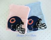 You Choose~Newborn Hospital Beanie inspired by Chicago Bears-infant girl beanie-baby boy hat-baby boy football hat-infant hat-newborn hat