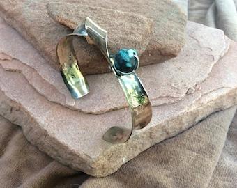 Antclated Bronze bracelet with turquoise