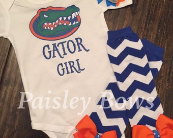 Glitter gator girl top and legwarmers