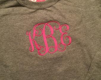 Monogrammed Crewneck Sweatshirt Lots of Colors