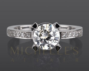 1.9 Carat F VS2 Diamond Engagement Ring Round Cut Wedding Ring In 18K White Gold Women Jewelry Size 4 5 6 7 8