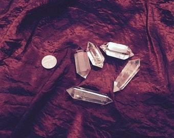 Double Terminated Clear Quartz Point Chakra Healing witch shaman magic