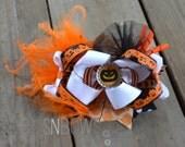 Jack O Lantern Boutique Halloween Bow