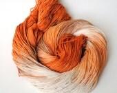 Hand Dyed Sock Yarn-  Pumpkin Spice Latte