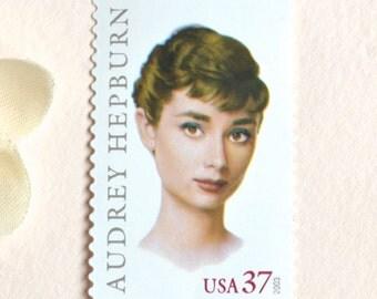 10 Audrey Hepburn Postage Stamps // Ten Unused Classic Movie Star Postage Stamps