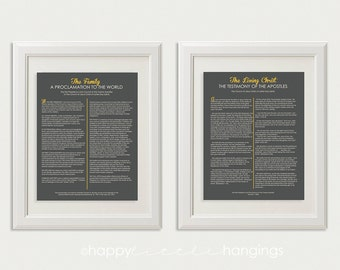 LDS The Family Proclamation to the World and The Living Christ - 11x14 digital files set