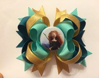Brave Princess Merida Loopy Layered Bow