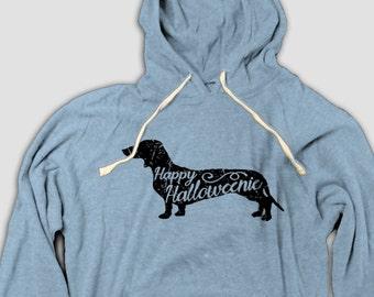 Funny Halloween Hoodie, Happy Halloweenie, dachshund, weiner dog