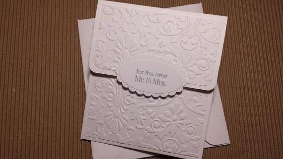 Wedding Gift Envelope : Embossed Wedding Gift Card Holder With Envelope, Mr & Mrs Gift Card ...