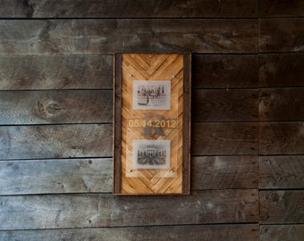 Wood Floating Picture Frame