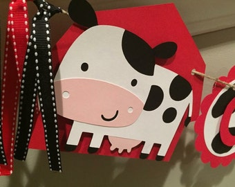 Cow/Barnyard Themed Banner