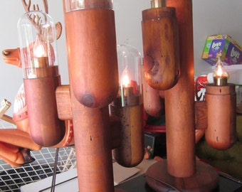 """Free Shipping in Lower 48 - Mid-Century """"Cactus"""" Lamps"""