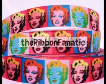 "5 yds 7/8"" Marilyn Monroe Grosgrain Ribbon"