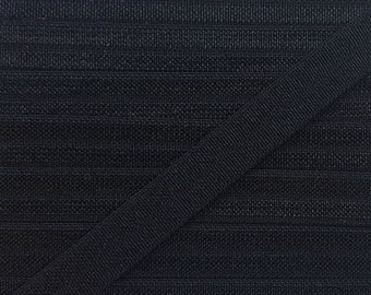 3/8 BLACK Fold Over Elastic 5 or 10 Yards