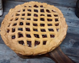 FAKE Apple, Blueberry, Peach Or Cherry Pie 9 Inch  Actual Pie Size - Looks and smells like just freshly baked pie