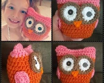 Crochet owl amigurumi GREAT SALE 1 X 12 OR 2 X 22