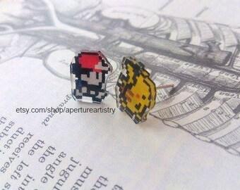 Pixel pokemon stud earrings!