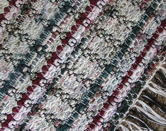 Greens and Wine Woven Rug